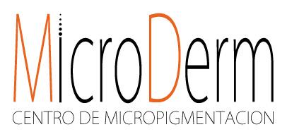 logotipo de microderm, centro de micropigmentación