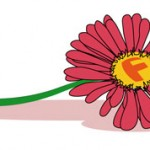 F de flor